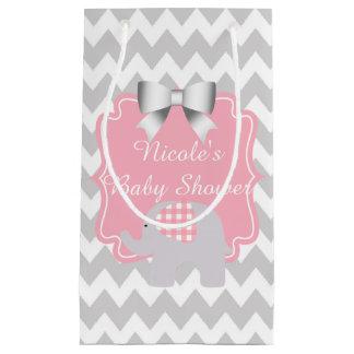 Beautiful Pink Baby Shower Custom Cute Elephant Small Gift Bag