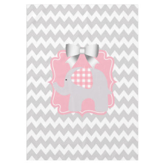 Beautiful Pink Baby Shower Party Custom Elephant Tablecloth
