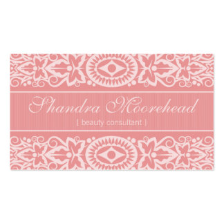 Beautiful Pink Beauty Consultant Business Card