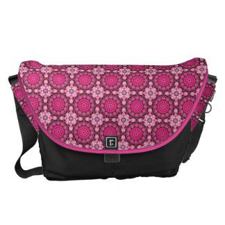 Beautiful pink Blossoms 02.3, Nature Mandala Commuter Bag