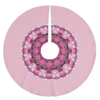 Beautiful pink Blossoms 2.6, Mandala Christmas Brushed Polyester Tree Skirt
