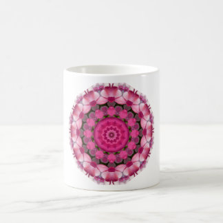 Beautiful pink Blossoms, Nature Mandala Coffee Mug