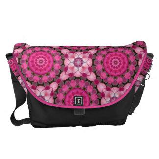 Beautiful pink Blossoms, Nature Mandala Commuter Bag