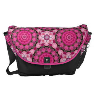 Beautiful pink Blossoms, Nature Mandala Messenger Bag