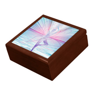 Beautiful Pink & Blue Vrikshasana Yoga Gift Box