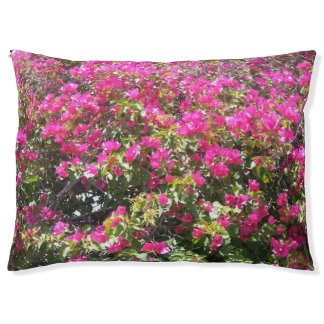 Beautiful Pink Bougainvillea Print Large Dog Bed