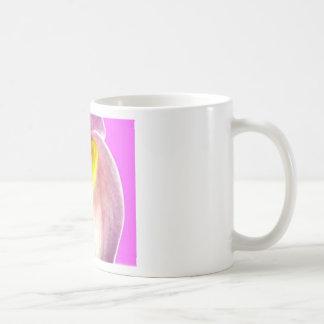 Beautiful pink calla lily flower close up view mug