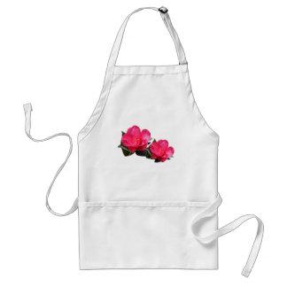 beautiful pink camellia flowers adult apron