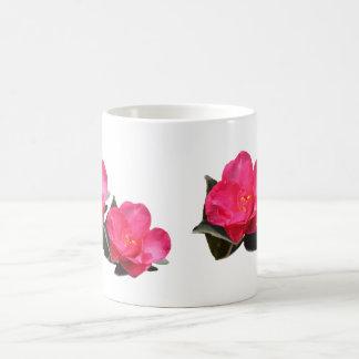 beautiful pink camellia flowers mugs