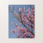 Beautiful pink cherry blossoms and blue sky jigsaw puzzle