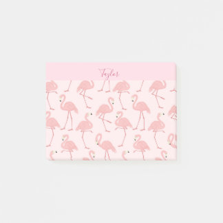 Beautiful Pink Flamingo Personalize Post-it Notes