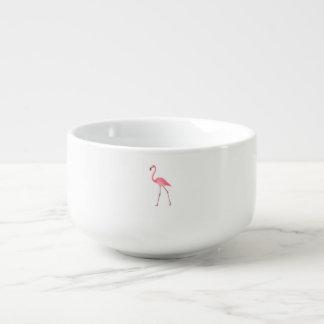 Beautiful Pink Flamingo Soup Mug