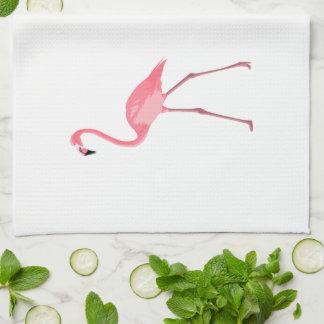 Beautiful Pink Flamingo Tea Towel