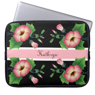 Beautiful Pink Floral Laptop Sleeve