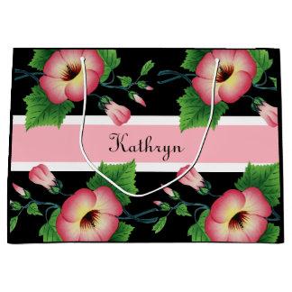 Beautiful Pink Floral Large Gift Bag
