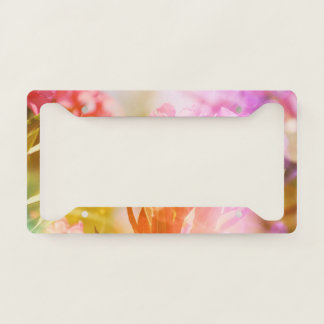 Beautiful Pink Floral Licence Plate Frame