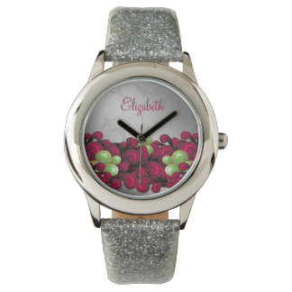 Beautiful Pink floral personalized design Watch
