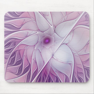 Beautiful Pink Flower Modern Abstract Fractal Art Mouse Pad