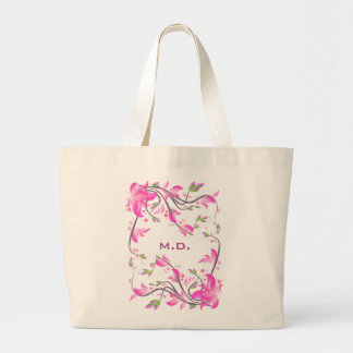 beautiful pink flowers decorative guard - Flowers Canvas Bags