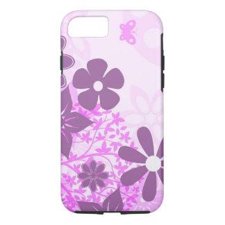 beautiful pink flowers vector art iPhone 7 case