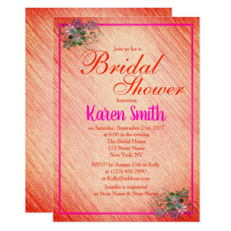 Beautiful Pink Flowery Bridal Shower Invite