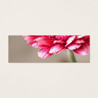 Beautiful pink gerbera on beige mini business card