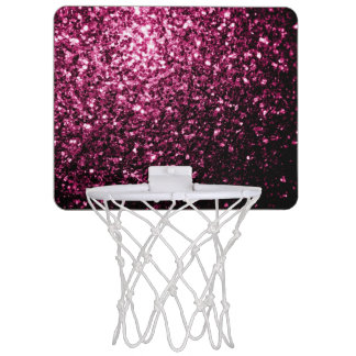 Beautiful Pink glitter sparkles Mini Basketball Hoop