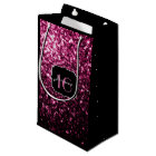 Beautiful Pink glitter sparkles Sweet 16 Small Gift Bag
