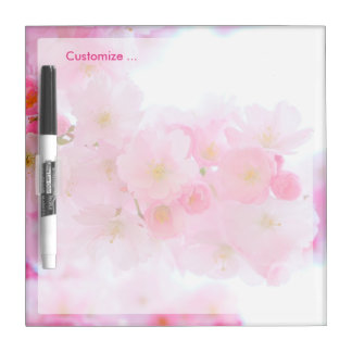 Beautiful Pink Japanese Cherry Blossom Dry-Erase Boards