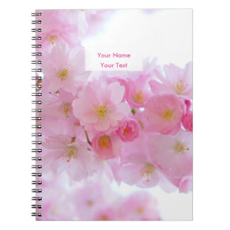 Beautiful Pink Japanese Cherry Blossom Spiral Notebooks
