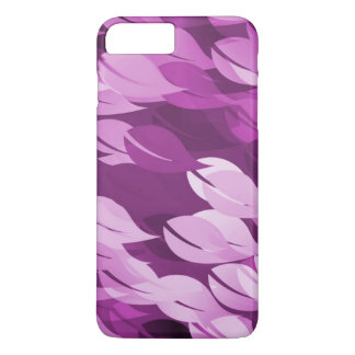 Beautiful Pink Leaf Seamless Floral Pattern iPhone 7 Plus Case