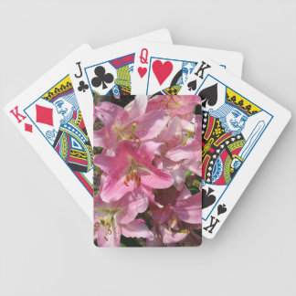 Beautiful Pink Lilies Bicycle Playing Cards