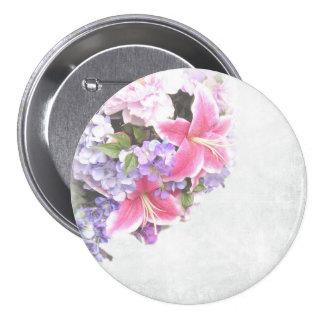 Beautiful Pink Lily Flower Decorative Art 7.5 Cm Round Badge