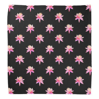 Beautiful Pink Lily Lotus Art Cool Trendy Unique Head Kerchief