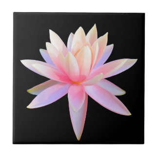 Beautiful Pink Lily Lotus Art Cool Unique Tile