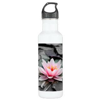 Beautiful Pink Lotus Flower Waterlily Zen Art 710 Ml Water Bottle