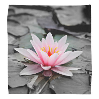 Beautiful Pink Lotus Flower Waterlily Zen Art Bandana