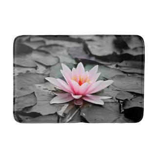 Beautiful Pink Lotus Flower Waterlily Zen Art Bath Mat