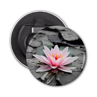 Beautiful Pink Lotus Flower Waterlily Zen Art Bottle Opener