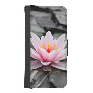 Beautiful Pink Lotus Flower Waterlily Zen Art iPhone SE/5/5s Wallet Case