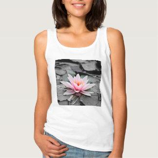 Beautiful Pink Lotus Flower Waterlily Zen Art Singlet