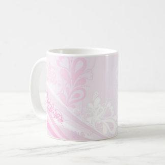 Beautiful pink love hearts swirl art coffee mug