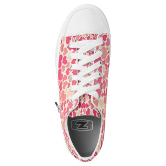 beautiful pink love hearts vector art printed shoes