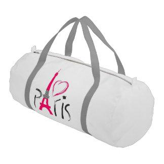 beautiful pink love Paris Gym Duffel Bag