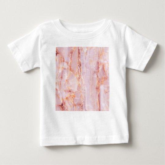 beautiful,pink,marble,girly,nature,stone,elegant, baby T-Shirt