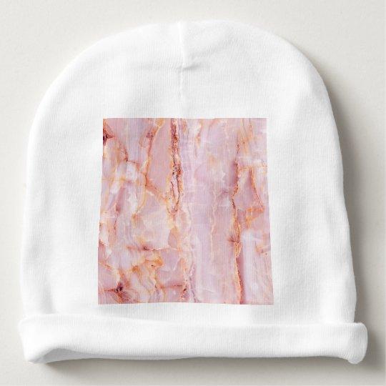 beautiful,pink,marble,girly,nature,stone,elegant,g baby beanie