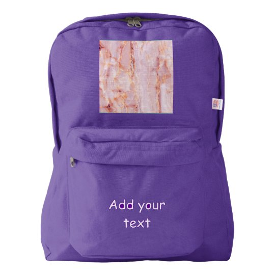 beautiful,pink,marble,girly,nature,stone,elegant,g backpack