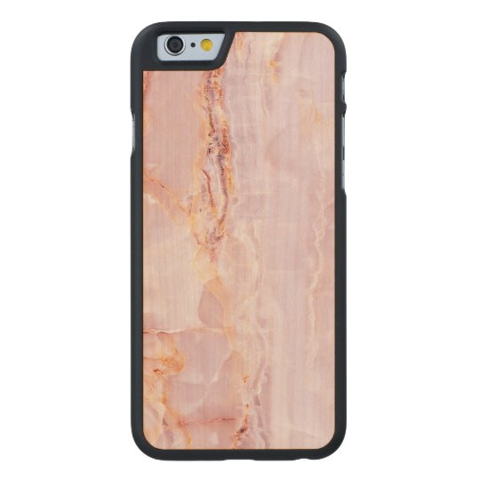 beautiful,pink,marble,girly,nature,stone,elegant,g carved maple iPhone 6 case