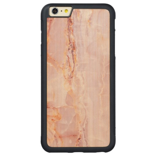 beautiful,pink,marble,girly,nature,stone,elegant,g carved maple iPhone 6 plus bumper case