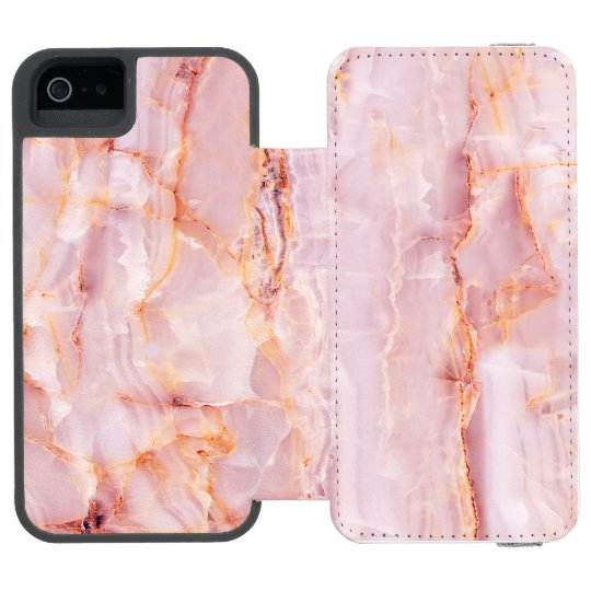 beautiful,pink,marble,girly,nature,stone,elegant,g incipio watson™ iPhone 5 wallet case